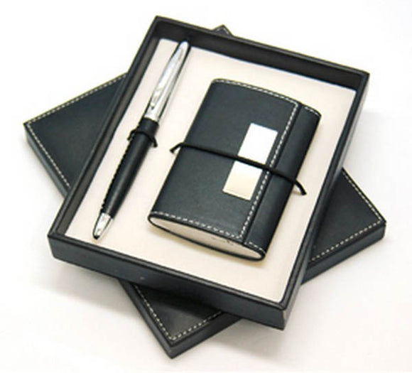 Lex Name Card Case With Pen Gift Set