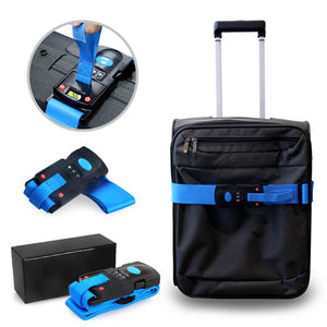 Luggage Strap with Built in Weighing Scale