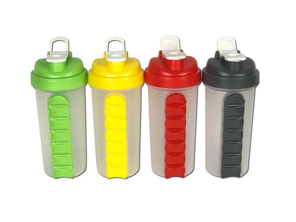 Lyfe Shaker Bottle with Removable Pill Box
