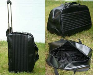 PU Leather Golf Travel Bag with Shoe Compartment