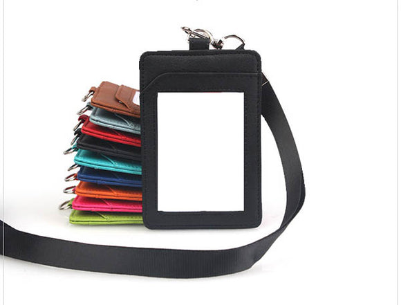 PU Leather Single Card Holder