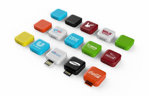 Plastic Square Twist Flash Drive