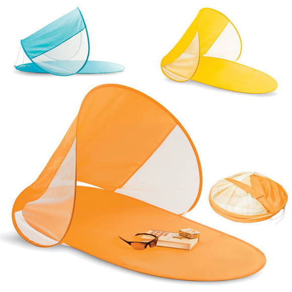 Pop Up Beach Mat with Sun Shade