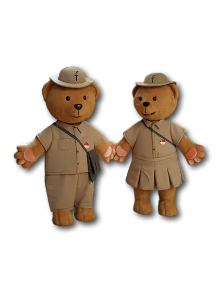 Postman and Postgirl Teddy Bear Mascot