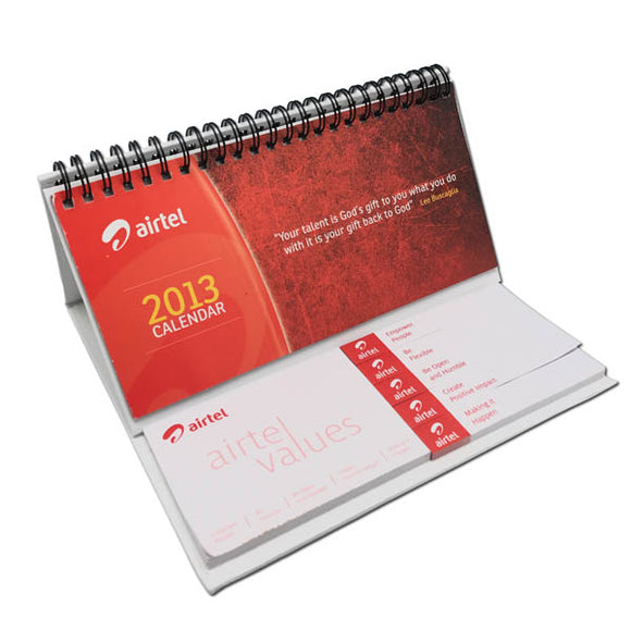 Short Calendar with Post It Pads and Page Markers
