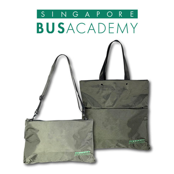 Singapore Bus Academy 2 in 1 Document Bag