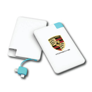 POW012 Super Slim Power Bank with Build In iPhone and Micro USB Adapters