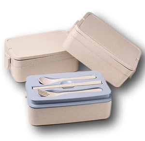 Wheat Fibre Food Container with Cutlery Set