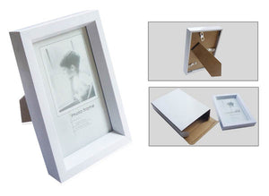 White Plastic Desk Photo Frame
