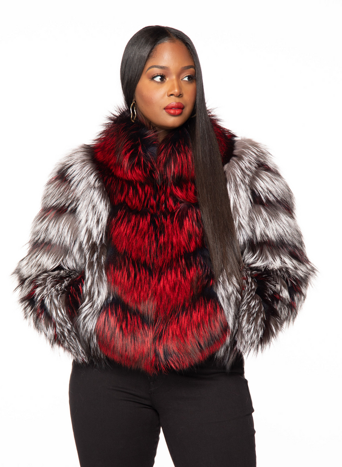 Thurmand Silver Fox Fur Jacket