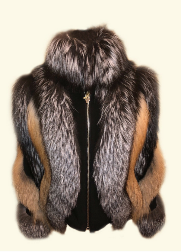 Manchester Silver and Gold Fox Jacket