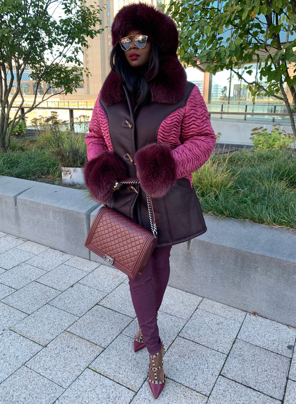Dina Shearling Coat