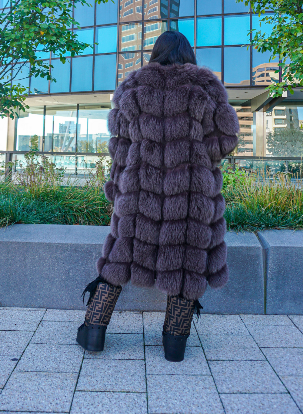Eva Fur Coat W/ Detachable Fur Sleeves