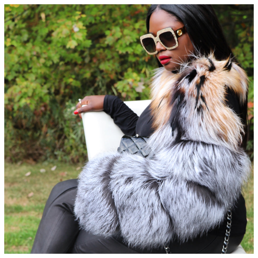 Ty-Kimmy Fox Fur Sleeve