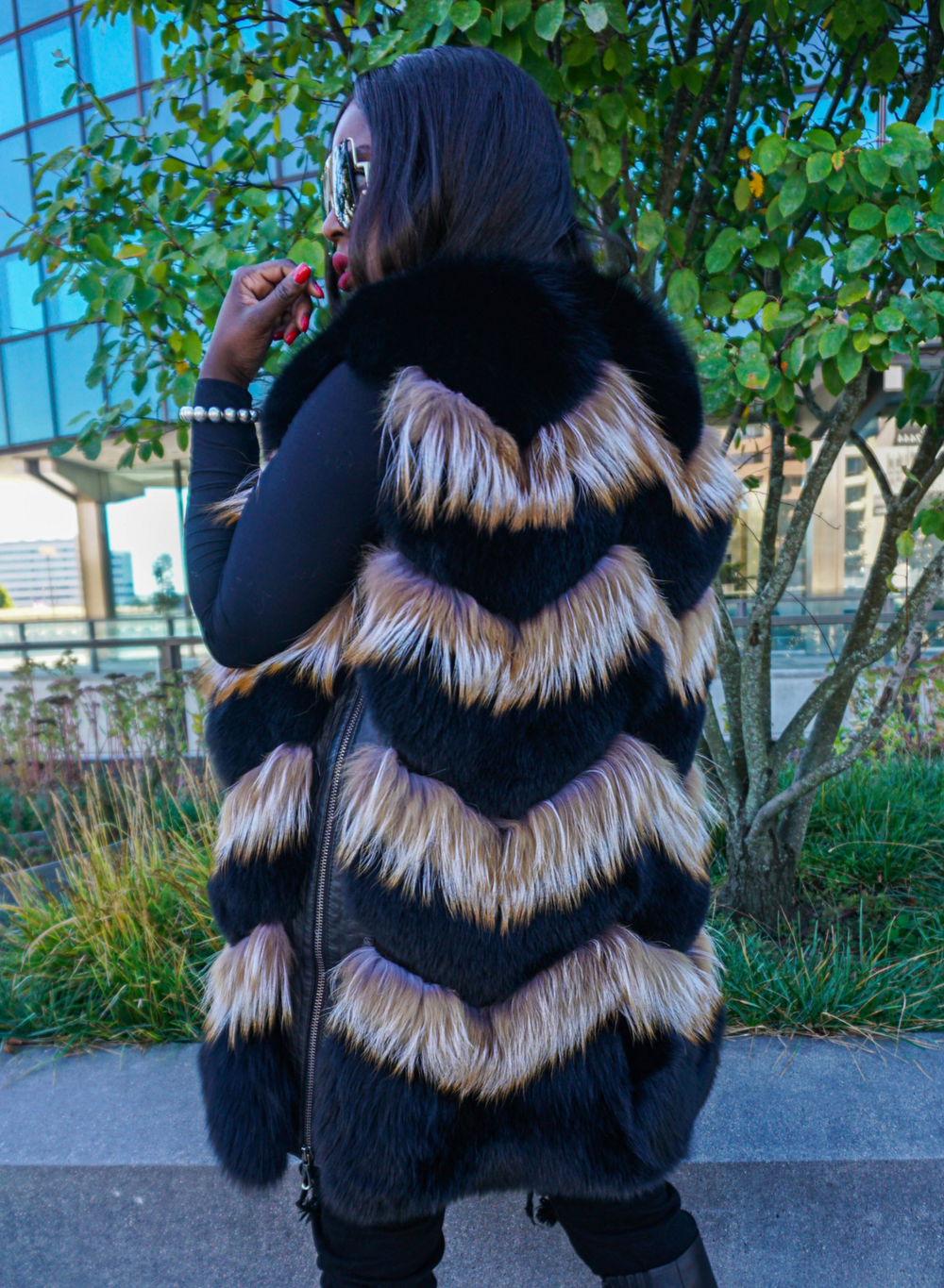 Mariah Two-Tone Fox Fur Vest
