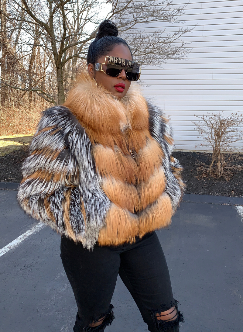 Thurmand Silver Fox and Gold Fox Fur Jacket