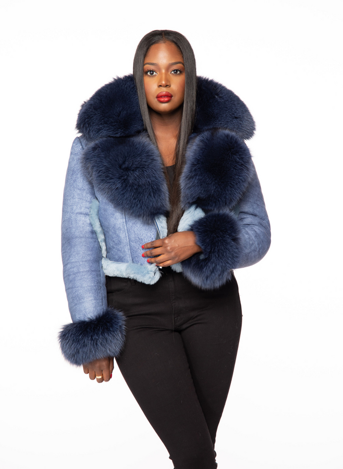 Queen II Shearling Cropped Detachable Hood