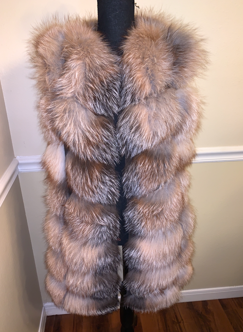 Shirley Fox Fur Vest Custom Color