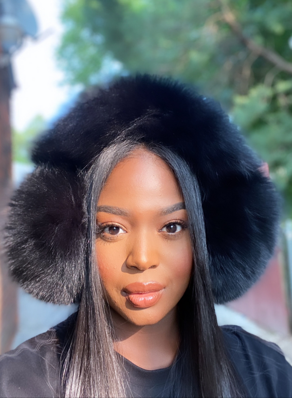 Skylar Oversized Luxe Fox Fur Earmuffs