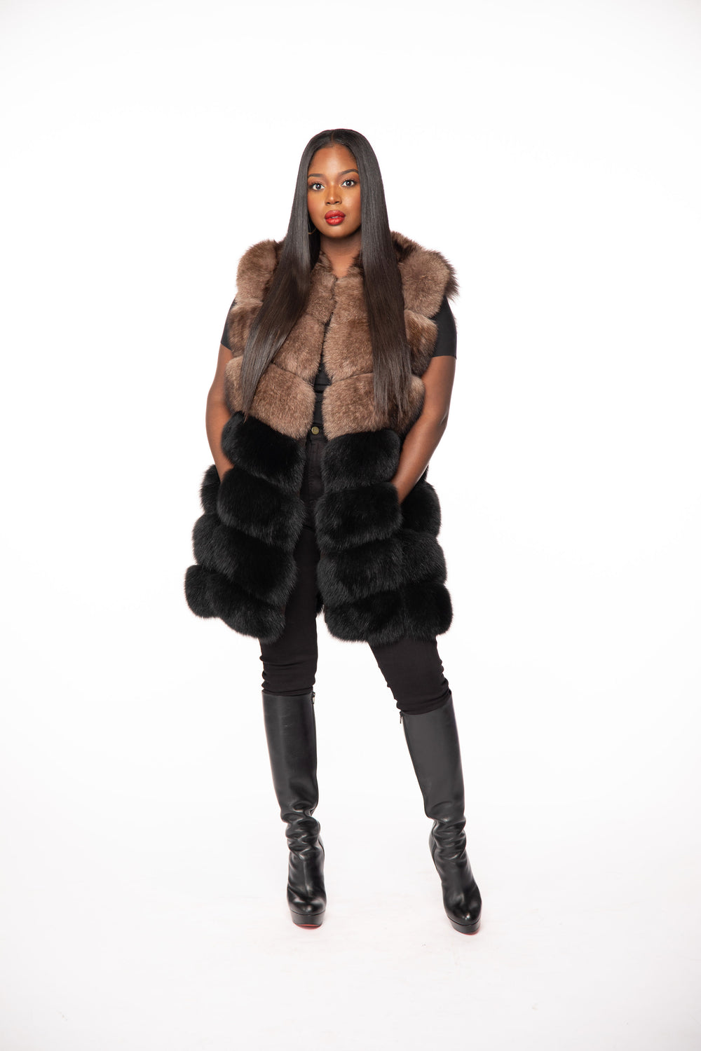 Shirley Fox Fur Vest