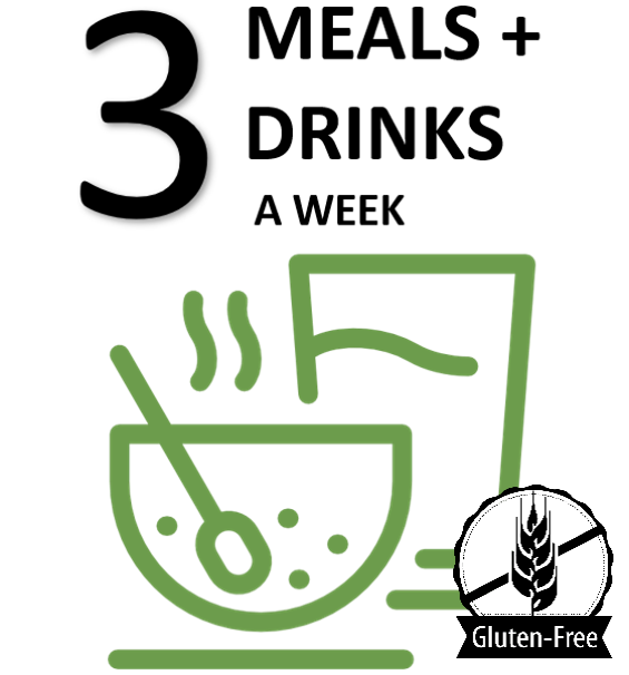 3-DAY WEEKLY Gluten-Free Meal & Drink Plan