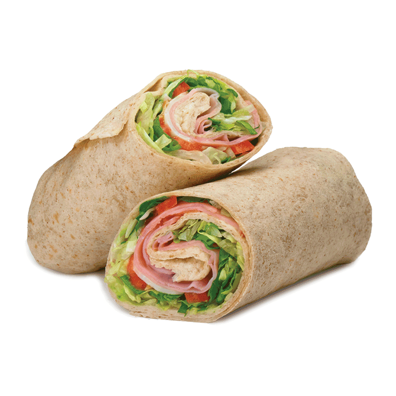 Ham, Cheese and Tomato Wrap