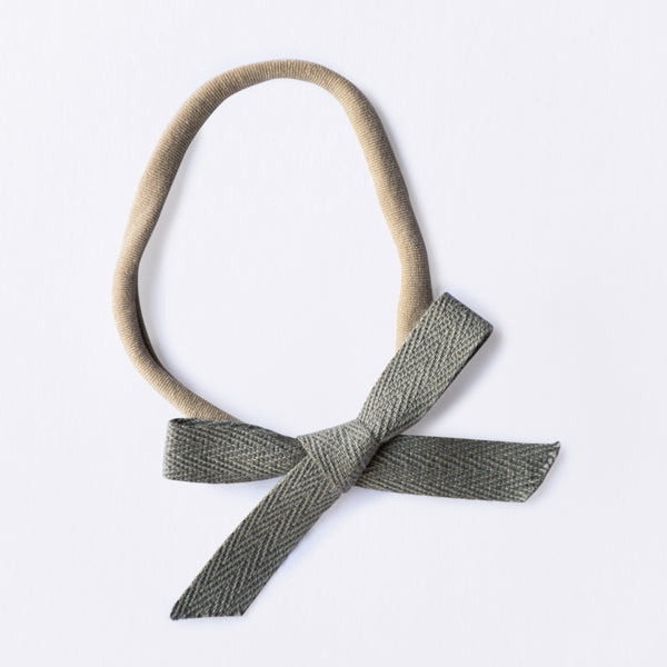 Mini Ava bow - Grey