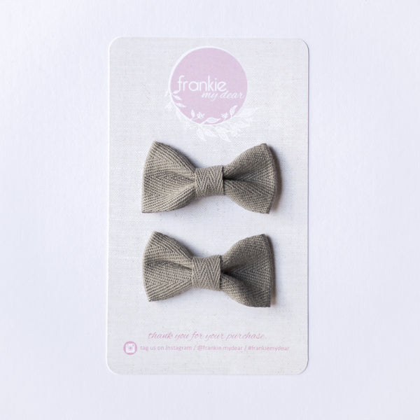 Mini Milla bow set - Grey