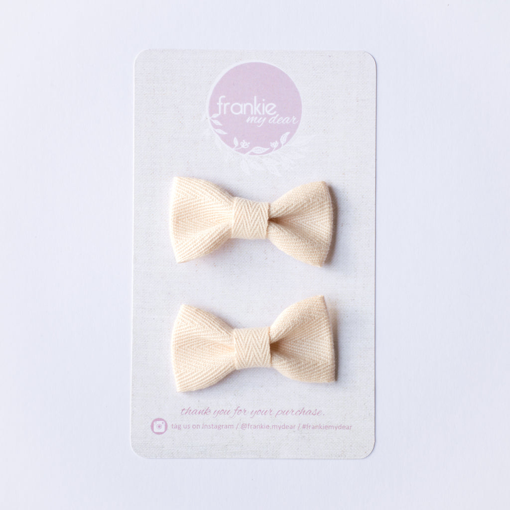Mini Milla bow set - Cream