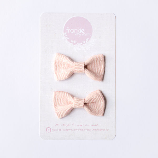 Mini Milla bow set - Pink