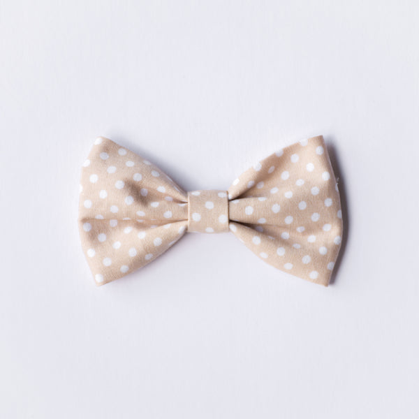 Lilah bow - Neutral Polkadot