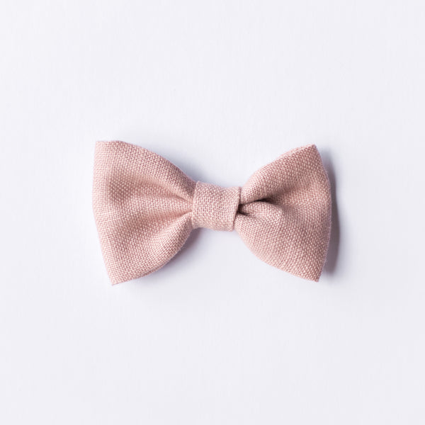 Lilah bow - Pink Linen