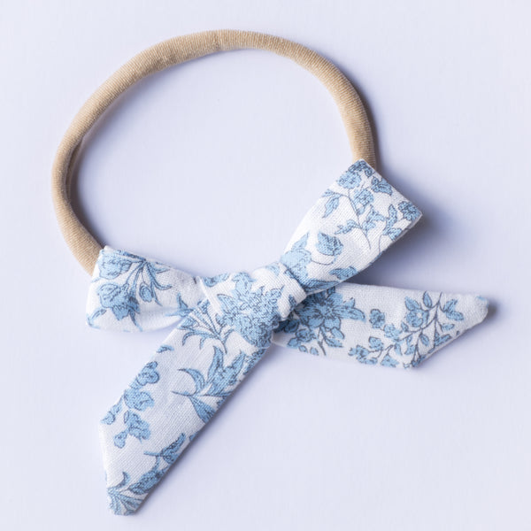 Evie bow - Blue Flora