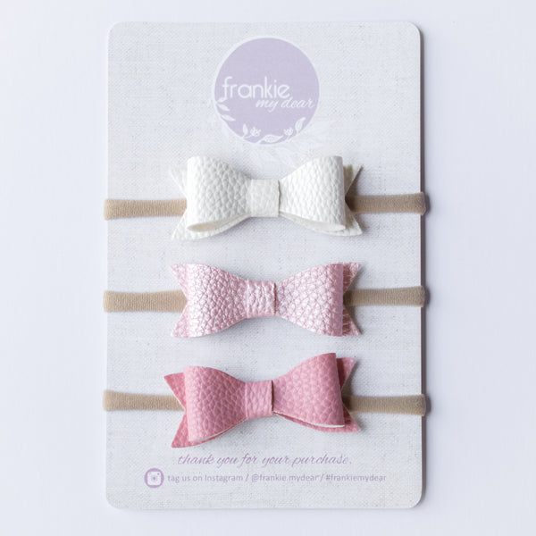 Frankie bow Set - Marshmallows