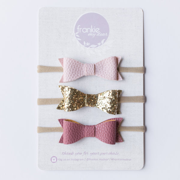 Frankie bow Set - Ballet Slipper
