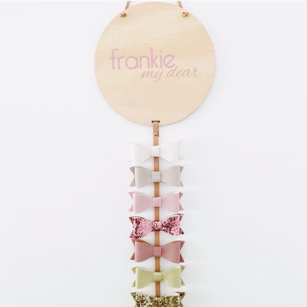 Bow Drop set - 'Frankie' printed