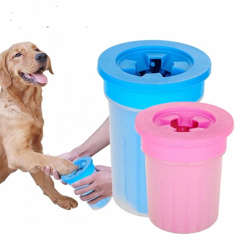 Dog Foot Clean Cup For Dogs Cats Cleaning Tool Soft Plastic Washing Brush Paw Washer Pet Accessories for Dog