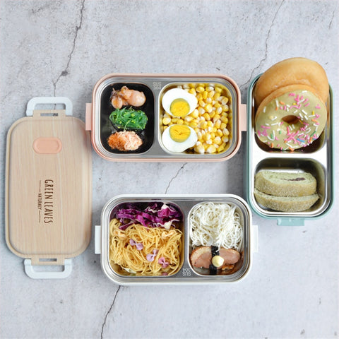 Stainless Steel Lunch Box Creative Simplicity Home Office Camping Hiking Leakproof Portable Food Container Student Bento Box