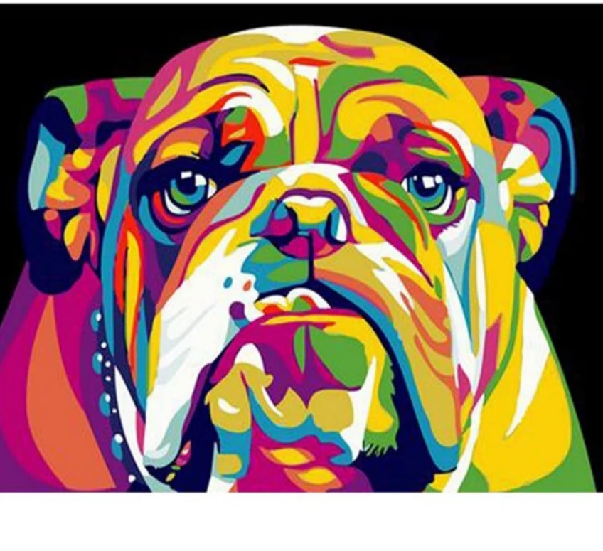 Frame Picture Dog Animals DIY Painting By Numbers Kits Hand painted Oil Painting Modern Wall Art Picture For Home Decor