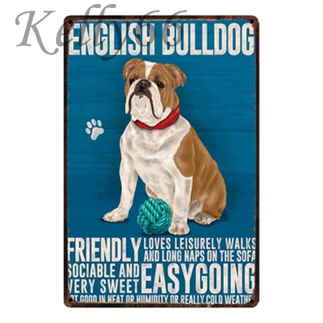 DOG  Metal Sign Home Decor Pet Store Wall Art Painting 20*30 CM Size Dy25