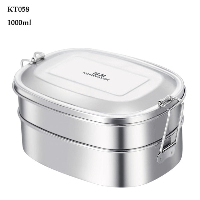 Custom Lunch Box For Food Container Bento Box 304 Top Grade Stainless Steel Storage Thermal Metal Box