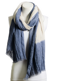 Boho Dip Dyed Long Scarf