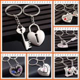 Keychain for a Wedding Gift or Couples Gift - Ships Free