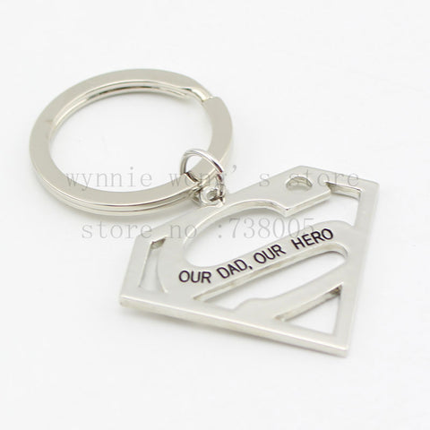 SUPERMAN Keychain or Necklace - Free Shipping