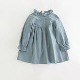 Baby Girl Long Sleeve Linen & Cotton Dress - Perfect for Autumn - Back to School