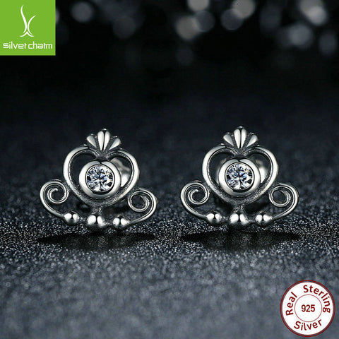Earring for girls My Princess style .925 Sterling Silver