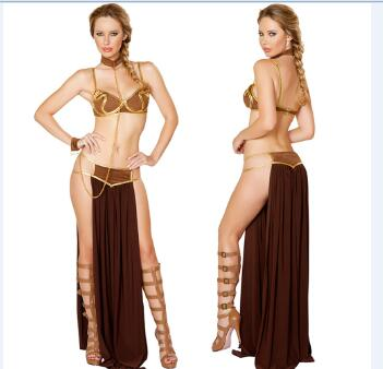 Star Wars Princess Leia Slave Costume - 3 pcs.- Ships Free