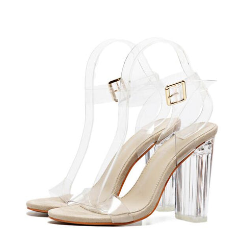 Womens New Transparent Gladiator Sandals - HOT FOR SUMMER - Ships Free