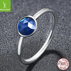 Sterling Silver .925 Blue stone Ring - Size 7