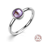Sterling Silver Amethyst .925 - Size 6